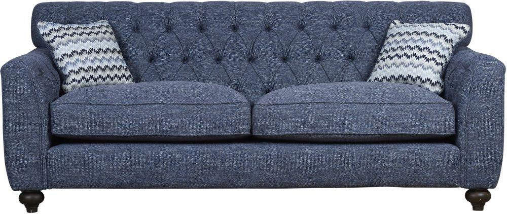 Mark Webster Avante Blue Fabric Extra Large Sofa