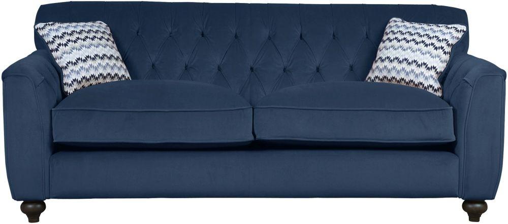 Mark Webster Avante Indigo Fabric Medium Sofa