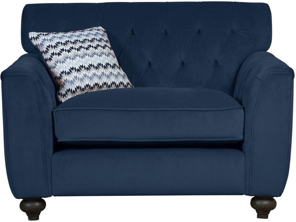 Mark Webster Avante Indigo Fabric Snuggler Chair