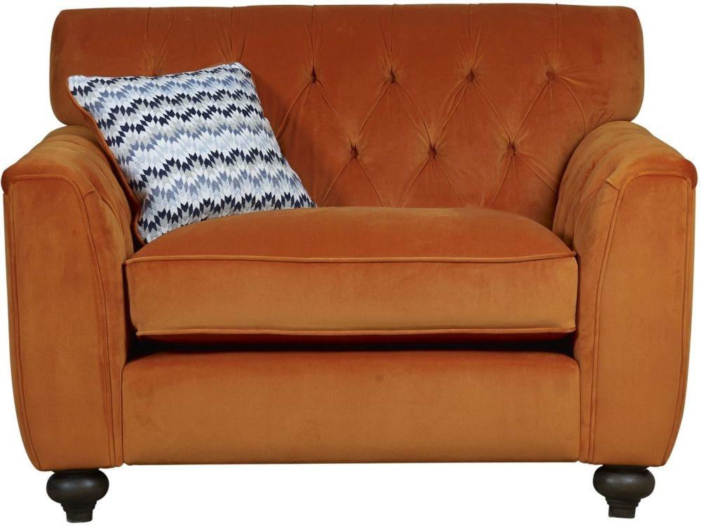 Mark Webster Avante Orange Fabric Snuggler Chair