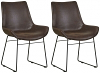 Mark Webster Barnyard Faux Leather Scoop Dining Chair (Pair)