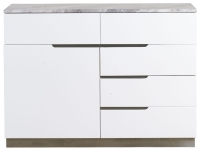 Mark Webster Bergamo Marble Top 1 Door 5 Drawer Narrow Sideboard