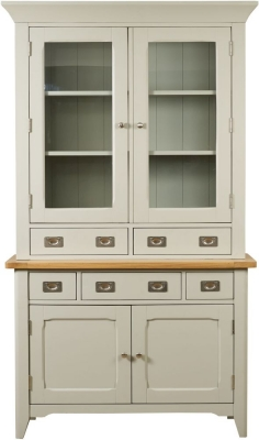 Mark Webster Bordeaux Painted Sideboard with Glazed Hutch - Small 2 Door 2 Drawer