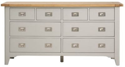 Mark Webster Bordeaux 8 Drawer Chest - Oak and Grey