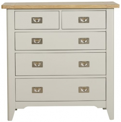 Mark Webster Bordeaux 3+2 Drawer Chest - Oak and Grey