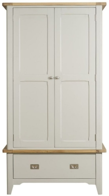 Mark Webster Bordeaux 2 Door Wardrobe - Oak and Grey