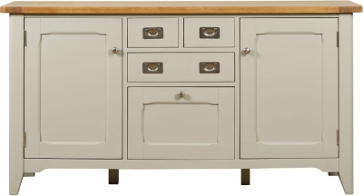 Mark Webster Bordeaux Wide Sideboard - Oak and Grey