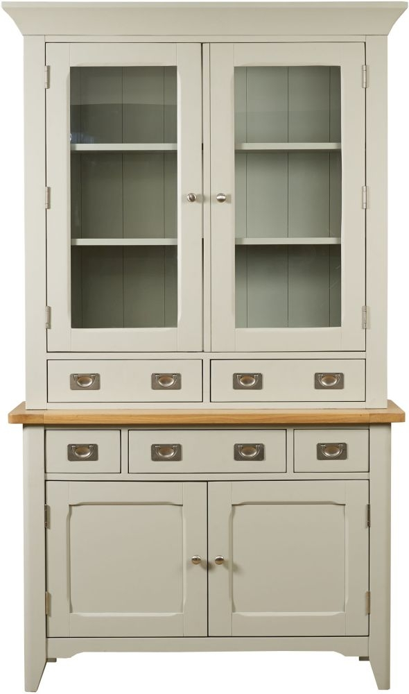 Mark Webster Bordeaux Painted Small 4 Door 5 Drawer Wide Sideboard with Glazed Hutch