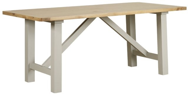 Mark Webster Bordeaux Painted Trestle Dining Table - Fixed Top
