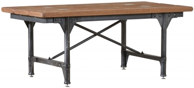 Mark Webster Brunel Coffee Table with Cross Metal Frame