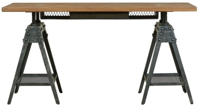 Mark Webster Brunel Oak Industrial Desk
