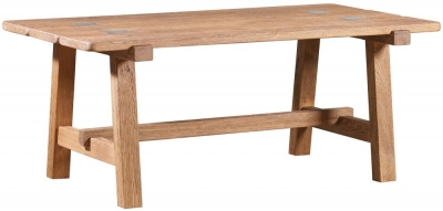 Mark Webster Brunel Oak Trestle Coffee Table