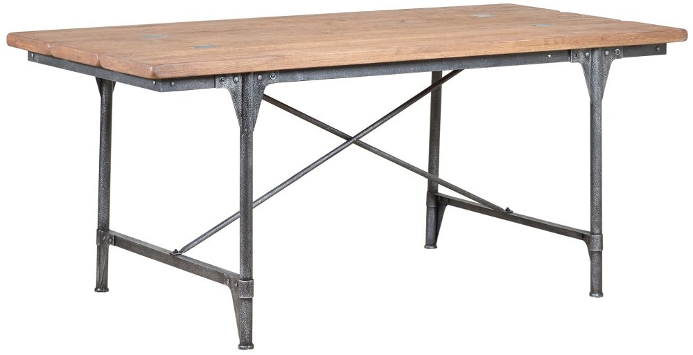 Mark Webster Brunel Oak Dining Table with Metal Legs
