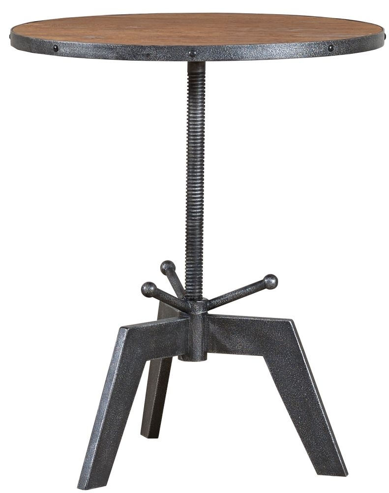 Mark Webster Brunel Oak Top Bistro Round Dining Table