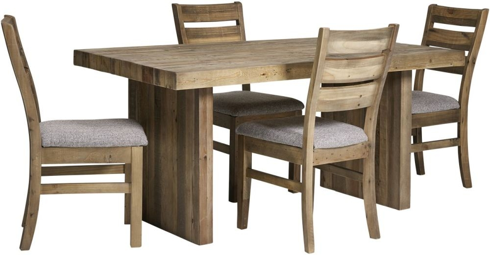 Mark Webster Campestre Rustic Dining Table and 4 Dining Chairs