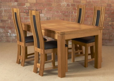 Mark Webster Canterbury Oak Dining Set - Small Extending with 4 Chairs
