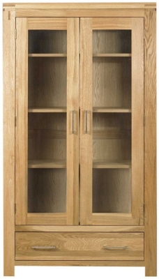 Mark Webster Canterbury Oak Display Cabinet - 2 Door