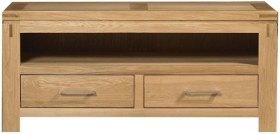 Mark Webster Canterbury Oak TV Unit - 2 Drawer