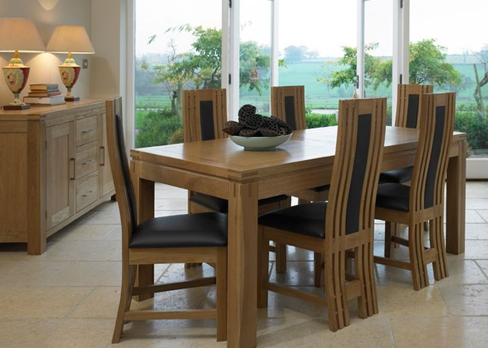 Mark Webster Canterbury Oak Dining Set - Large Extending with 6 Chairs