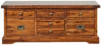 Mark Webster Chaucer Acacia 6 Drawer Storage Coffee Table