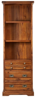 Mark Webster Chaucer Acacia 4 Drawer Bookcase