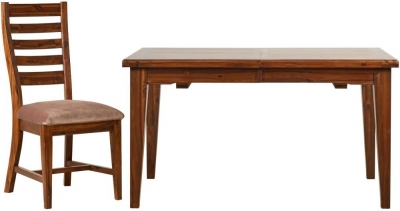 Mark Webster Chaucer Dining Set - Extending with 4 Fabric Seat Pad Chairs