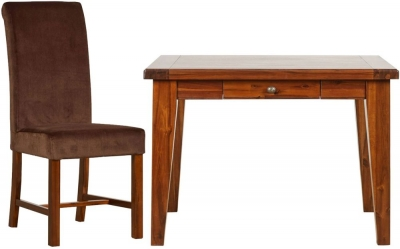 Mark Webster Chaucer Dining Set - Square Fixed Top with 4 Upholstered Chairs