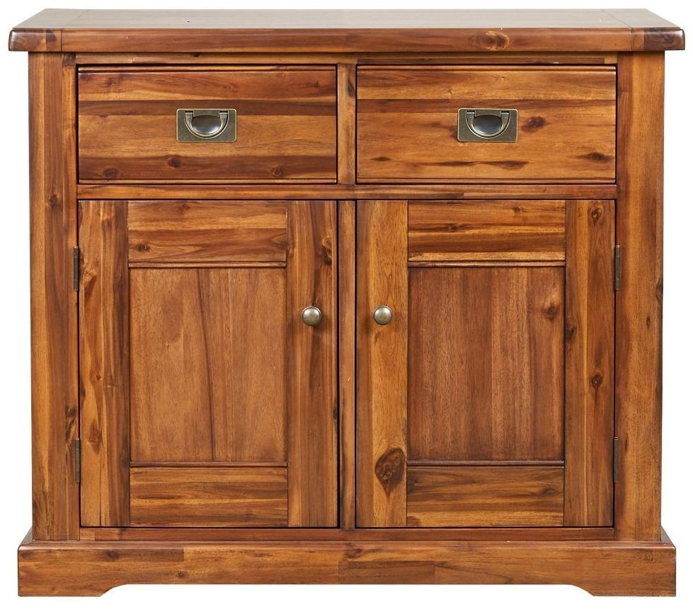 Mark Webster Chaucer Acacia 2 Door 2 Drawer Narrow Sideboard