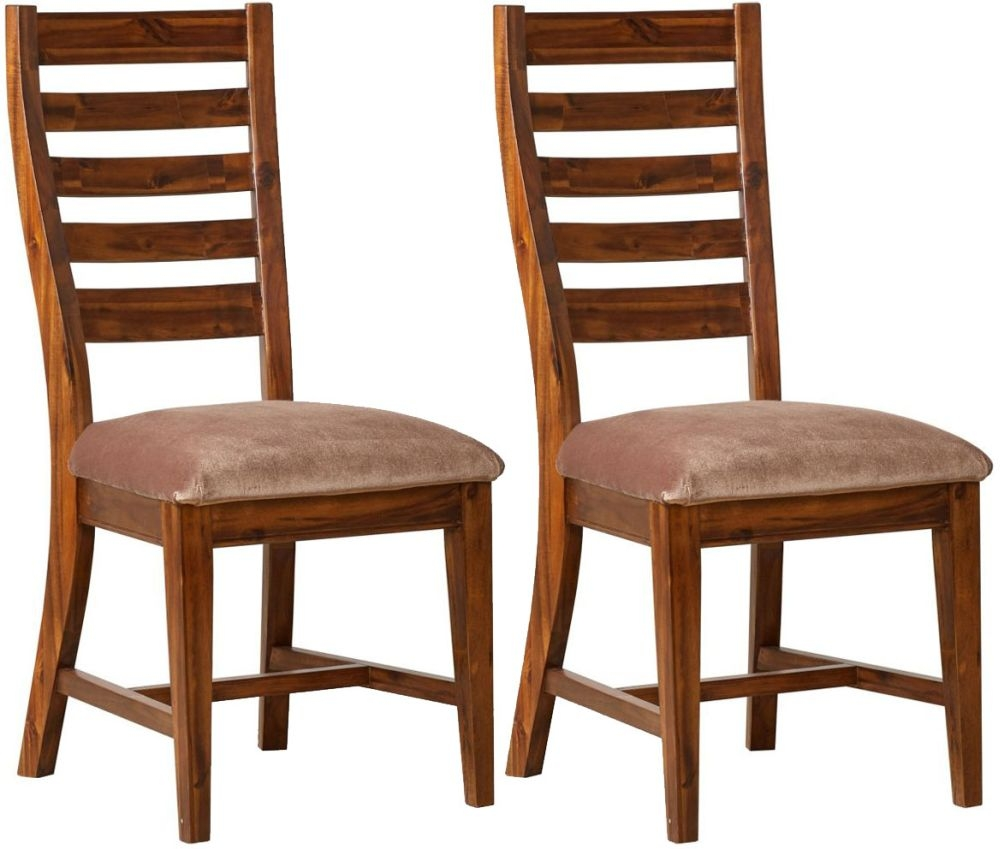 Mark Webster Chaucer Dining Chair with Fabric Seat Pad (Pair)