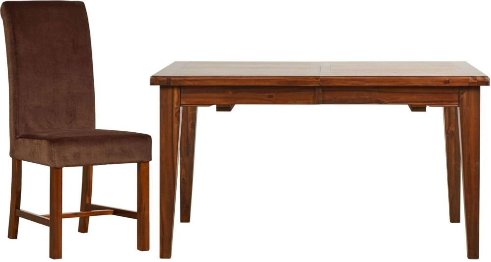 Mark Webster Chaucer Dining Set - Extending with 4 Upholstered Chairs