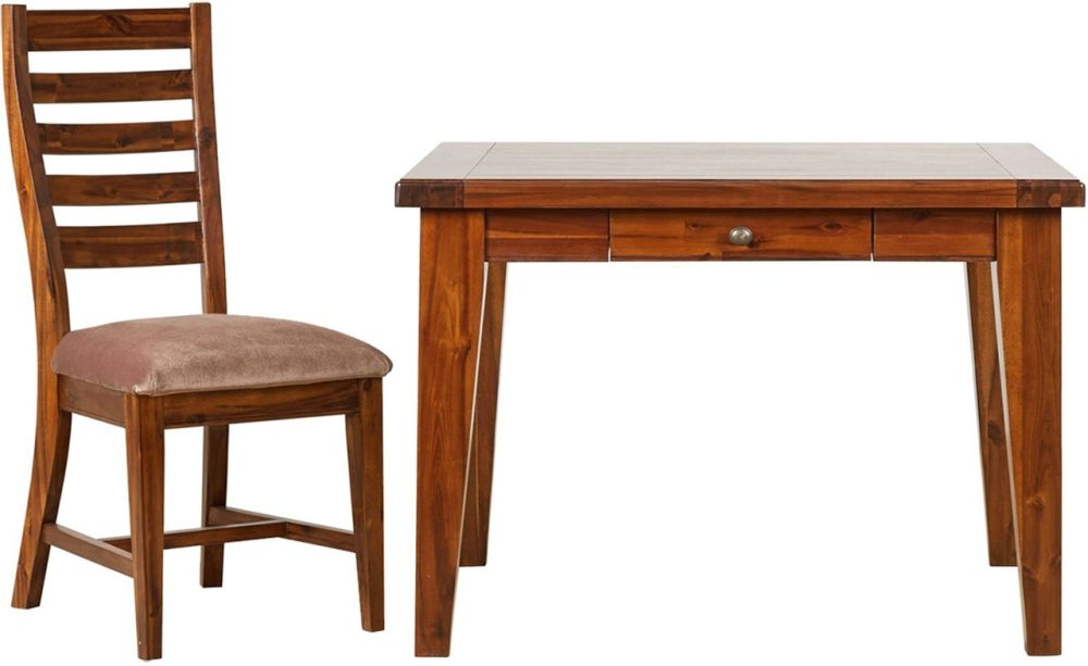 Mark Webster Chaucer Dining Set - Square Fixed Top with 4 Fabric Seat Pad Chairs