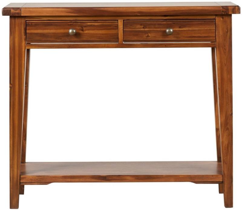 Mark Webster Chaucer Acacia 2 Drawer Console Table