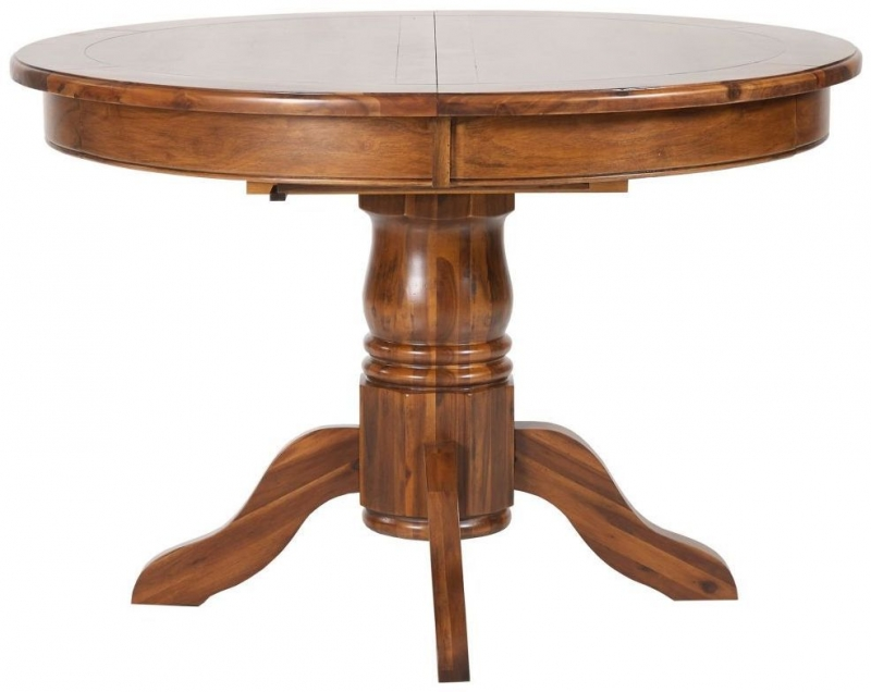 Mark Webster Chaucer Acacia Round Extending Dining Table - 113cm-153cm