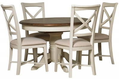 Mark Webster Chiswick Painted Dining Set - Round Extending with 4 Chairs