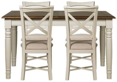 Mark Webster Chiswick Painted Dining Set - Small Extending with 4 Chairs