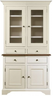 Mark Webster Chiswick Painted Sideboard with Glazed Hutch - Small