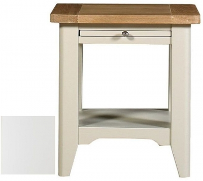 Clearance Mark Webster Padstow Off White Lamp Table - G231