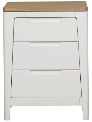 Clearance Mark Webster Painted Geo Bedside Table - 3 Drawer - G226