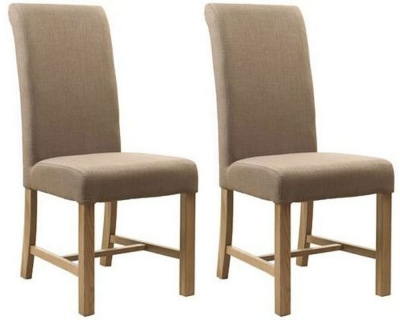 Mark Webster Camel Fabric Dining Chair - FR17881 (Pair)