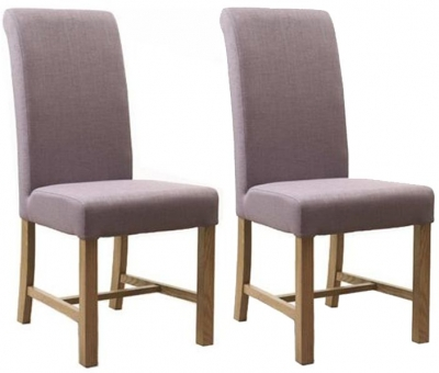 Mark Webster Lilac Fabric Dining Chair FR17883 (Pair)