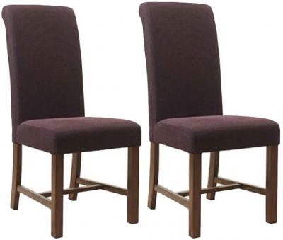 Mark Webster Magenta Fabric Dining Chair FR17104 (Pair)