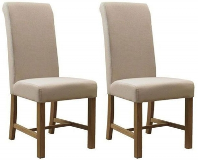 Mark Webster Natural Fabric Dining Chair - FR17888 (Pair)