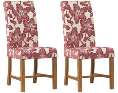 Mark Webster Plum Fabric Dining Chair - FR15950 (Pair)
