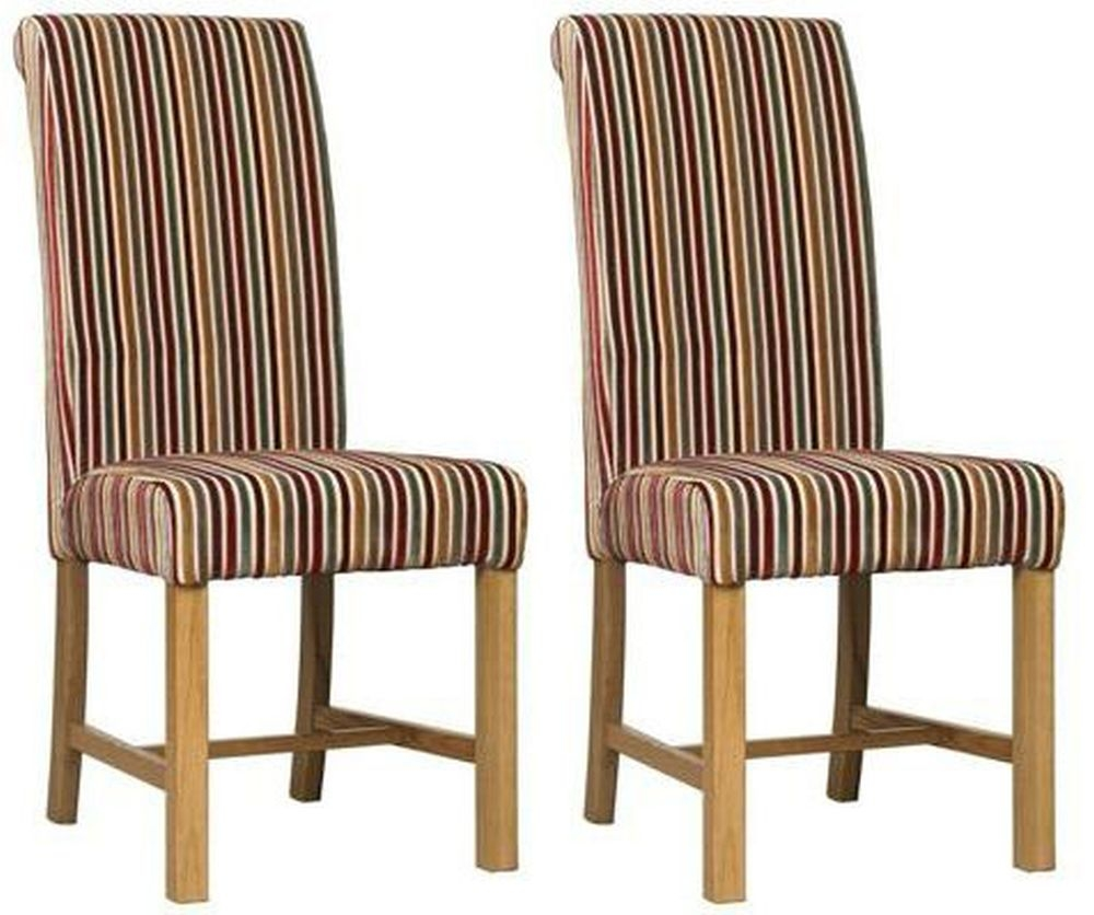 Mark Webster Candy Deluxe Stripe Dining Chair - FR17361 (Pair)
