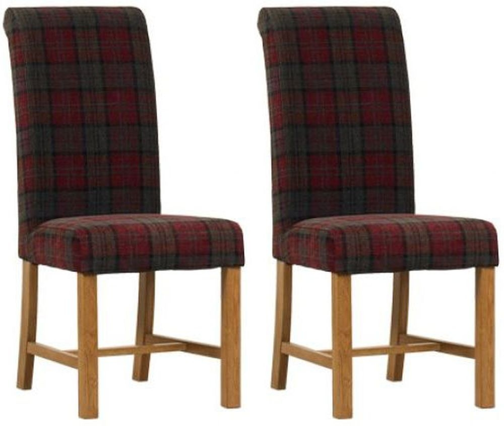 Mark Webster Claret Fabric Dining Chair - FR18933 (Pair)