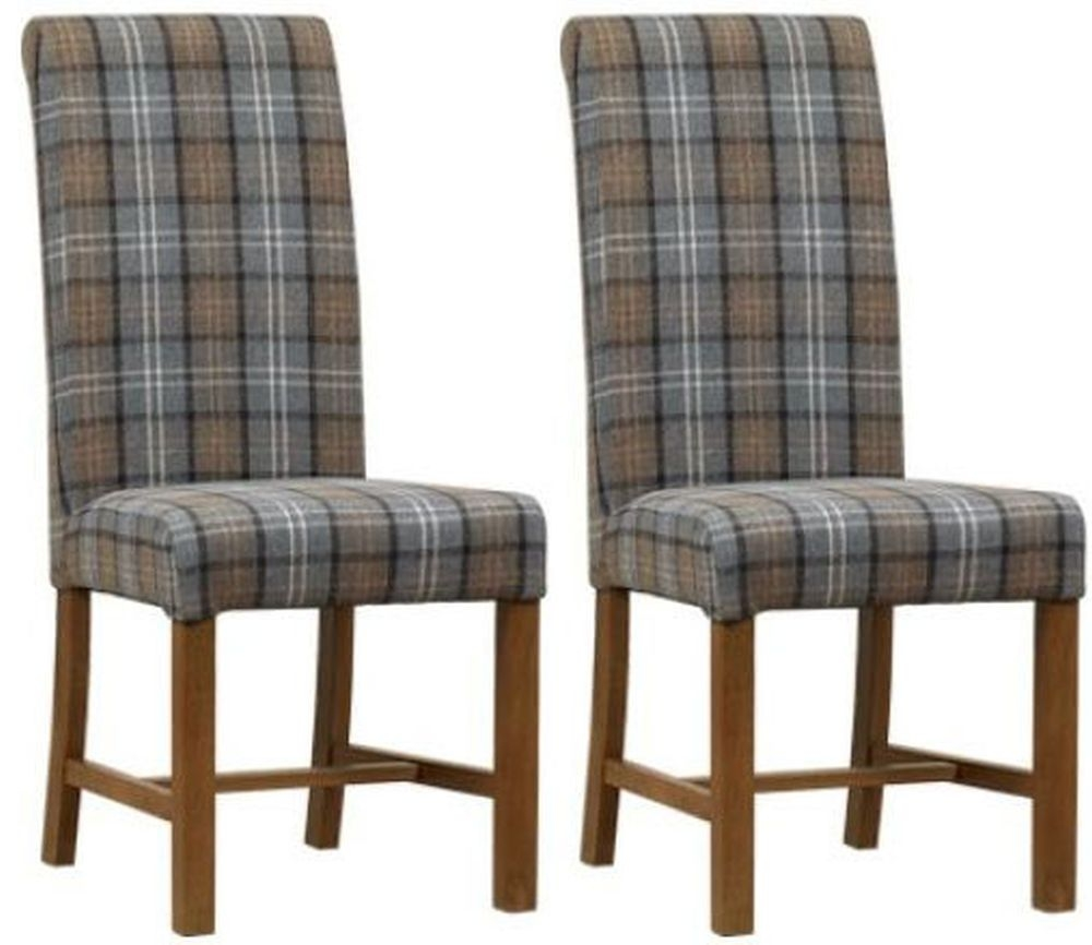 Mark Webster Dove Gray Fabric Dining Chair - FR18931 (Pair)