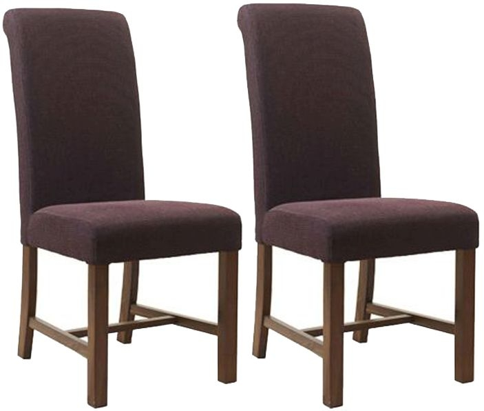 Mark Webster Magenta Fabric Dining Chair FR17104 (Pair)