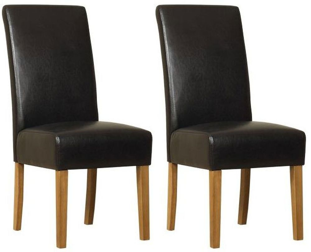 Mark Webster Parason PU Leather Dining Chair (Pair)