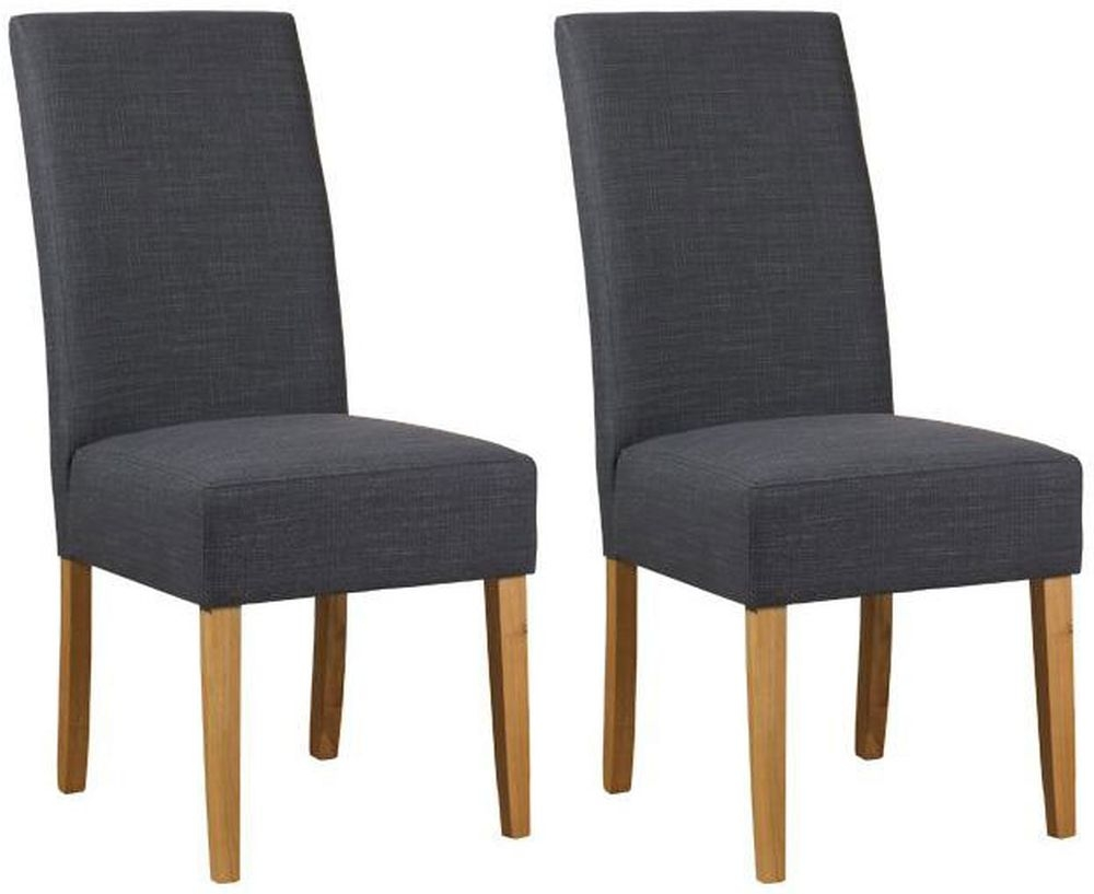 Mark Webster Parason Steel Fabric Dining Chair - FR18065 (Pair)