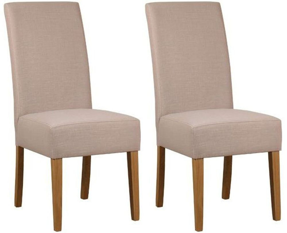 Mark Webster Parason Stone Fabric Dining Chair - FR18604 (Pair)